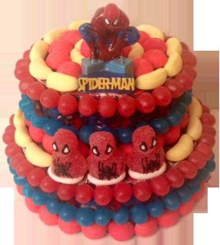 spiderman-gateau-bonbon-piece-montee