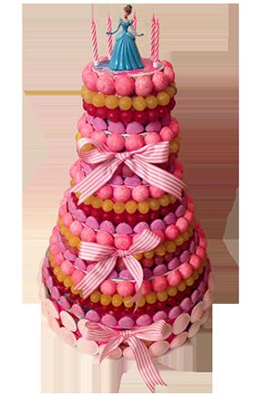 princesse-gateau-bonbon-piece-montee